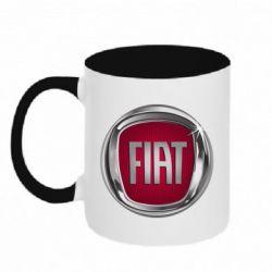 Кружка двоколірна 320ml Emblem Fiat