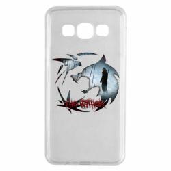 Чехол для Samsung A3 2015 Emblem wolf and text The Witcher