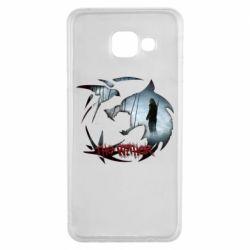 Чехол для Samsung A3 2016 Emblem wolf and text The Witcher