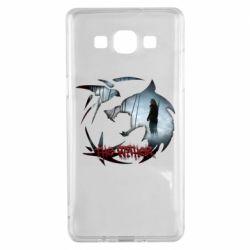 Чехол для Samsung A5 2015 Emblem wolf and text The Witcher