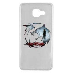 Чехол для Samsung A7 2016 Emblem wolf and text The Witcher
