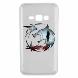 Чехол для Samsung J1 2016 Emblem wolf and text The Witcher