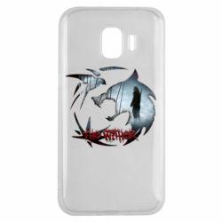 Чехол для Samsung J2 2018 Emblem wolf and text The Witcher