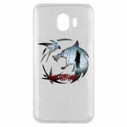 Чехол для Samsung J4 Emblem wolf and text The Witcher