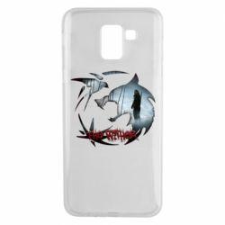 Чехол для Samsung J6 Emblem wolf and text The Witcher