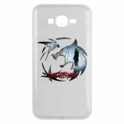 Чехол для Samsung J7 2015 Emblem wolf and text The Witcher