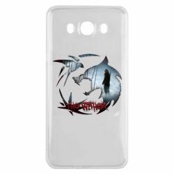 Чехол для Samsung J7 2016 Emblem wolf and text The Witcher