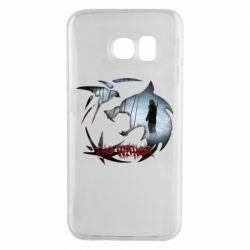 Чехол для Samsung S6 EDGE Emblem wolf and text The Witcher