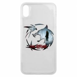 Чехол для iPhone Xs Max Emblem wolf and text The Witcher