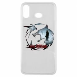 Чехол для Samsung A6s Emblem wolf and text The Witcher