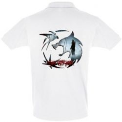 Мужская футболка поло Emblem wolf and text The Witcher