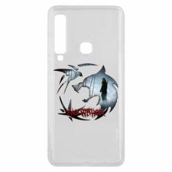 Чехол для Samsung A9 2018 Emblem wolf and text The Witcher