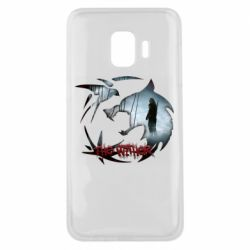 Чехол для Samsung J2 Core Emblem wolf and text The Witcher