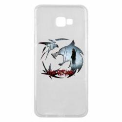 Чехол для Samsung J4 Plus 2018 Emblem wolf and text The Witcher