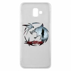 Чехол для Samsung J6 Plus 2018 Emblem wolf and text The Witcher