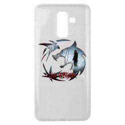 Чехол для Samsung J8 2018 Emblem wolf and text The Witcher