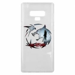 Чехол для Samsung Note 9 Emblem wolf and text The Witcher