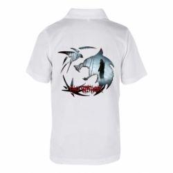 Детская футболка поло Emblem wolf and text The Witcher