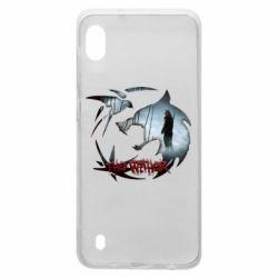 Чехол для Samsung A10 Emblem wolf and text The Witcher