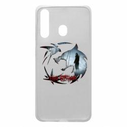 Чехол для Samsung A60 Emblem wolf and text The Witcher