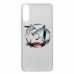 Чехол для Samsung A70 Emblem wolf and text The Witcher