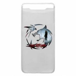 Чехол для Samsung A80 Emblem wolf and text The Witcher