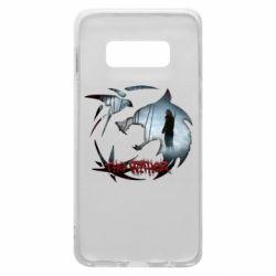 Чехол для Samsung S10e Emblem wolf and text The Witcher