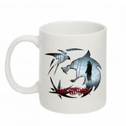 Кружка 320ml Emblem wolf and text The Witcher