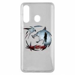 Чехол для Samsung M40 Emblem wolf and text The Witcher
