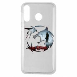 Чехол для Samsung M30 Emblem wolf and text The Witcher