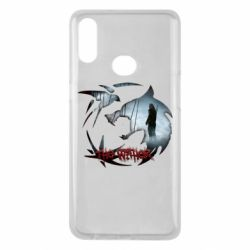 Чехол для Samsung A10s Emblem wolf and text The Witcher