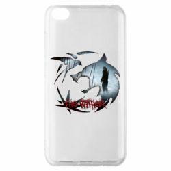 Чехол для Xiaomi Redmi Go Emblem wolf and text The Witcher