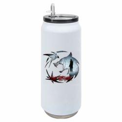 Термобанка 500ml Emblem wolf and text The Witcher