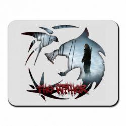 Коврик для мыши Emblem wolf and text The Witcher
