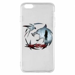 Чехол для iPhone 6 Plus/6S Plus Emblem wolf and text The Witcher