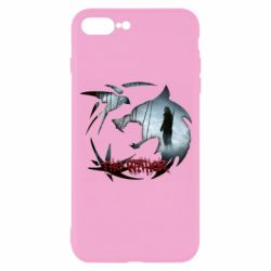 Чехол для iPhone 7 Plus Emblem wolf and text The Witcher