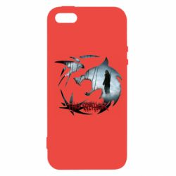 Чехол для iPhone5/5S/SE Emblem wolf and text The Witcher