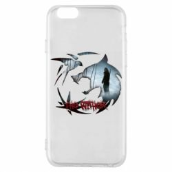 Чехол для iPhone 6/6S Emblem wolf and text The Witcher
