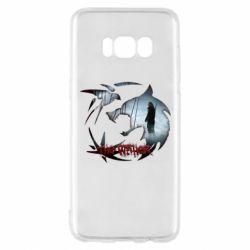 Чехол для Samsung S8 Emblem wolf and text The Witcher