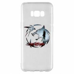 Чехол для Samsung S8+ Emblem wolf and text The Witcher