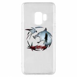 Чехол для Samsung S9 Emblem wolf and text The Witcher
