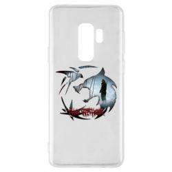 Чехол для Samsung S9+ Emblem wolf and text The Witcher