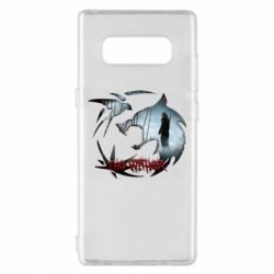 Чехол для Samsung Note 8 Emblem wolf and text The Witcher