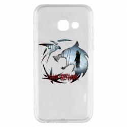 Чехол для Samsung A3 2017 Emblem wolf and text The Witcher