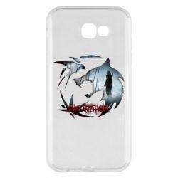 Чехол для Samsung A7 2017 Emblem wolf and text The Witcher