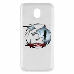 Чехол для Samsung J5 2017 Emblem wolf and text The Witcher