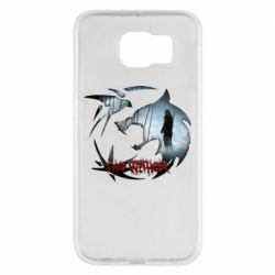 Чехол для Samsung S6 Emblem wolf and text The Witcher