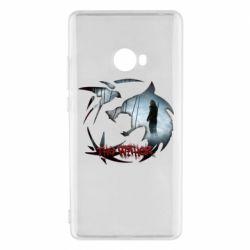 Чехол для Xiaomi Mi Note 2 Emblem wolf and text The Witcher