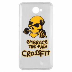Чехол для Huawei Y7 2017 Embrace the pain. Crossfit - FatLine
