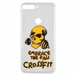 Чехол для Huawei Y7 Prime 2018 Embrace the pain. Crossfit - FatLine